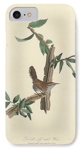 Bewick's Long-tailed Wren IPhone 7 Case by John James Audubon