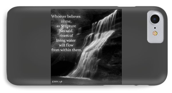 Bible Quote Living Water IPhone Case by Dan Sproul