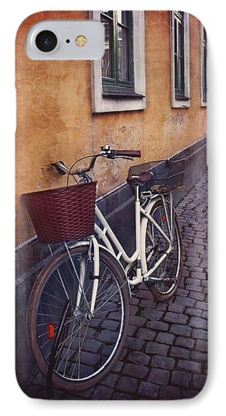 Bicycle With A Basket IPhone Case by Carol Japp