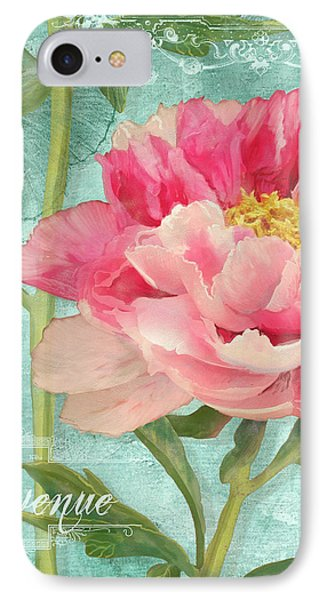 Bienvenue - Peony Garden IPhone Case by Audrey Jeanne Roberts
