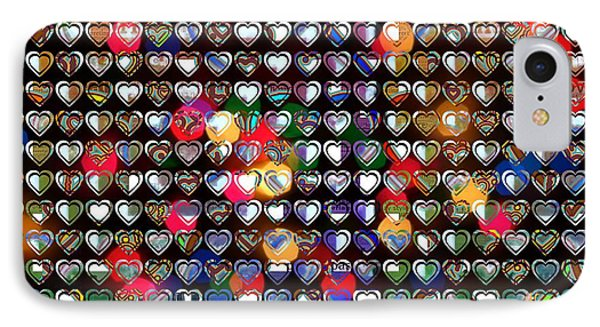 Big One Beautiful Hearts IPhone Case by Toppart Sweden