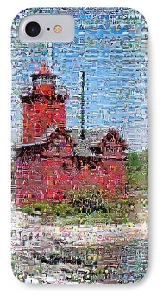 Big Red Photomosaic Phone Case by Michelle Calkins