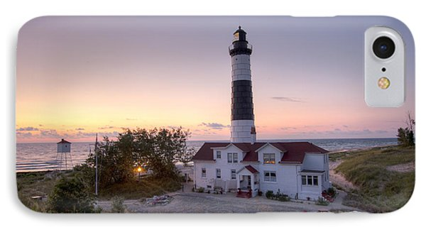 Big Sable Point Lighthouse At Sunset IPhone Case by Adam Romanowicz