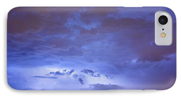 Big Sky With Small Lightning Strikes In The Distance Phone Case by James BO  Insogna