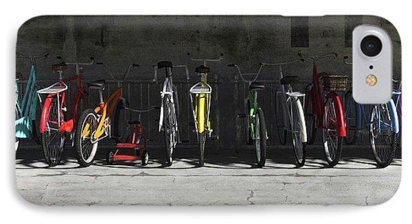 Bike Rack IPhone 7 Case by Cynthia Decker