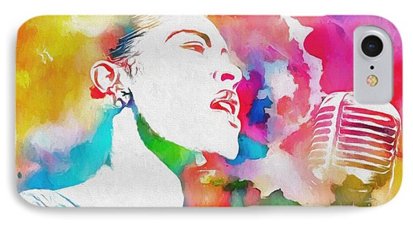 Billie Holiday Color Tribute IPhone Case by Dan Sproul