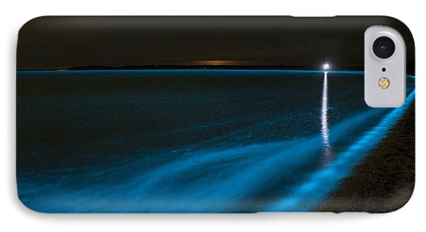 Bioluminescence In Waves Phone Case by Philip Hart