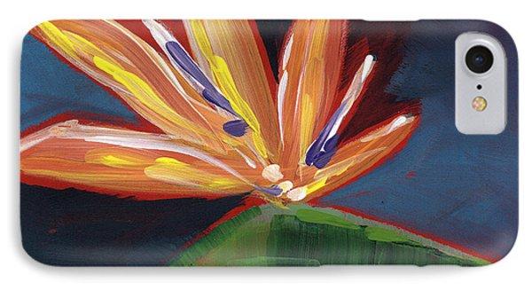 Bird Of Paradise- Art By Linda Woods IPhone Case by Linda Woods