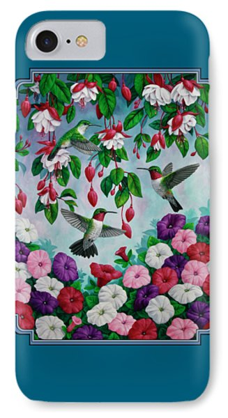 Bird Painting - Hummingbird Heaven IPhone Case by Crista Forest