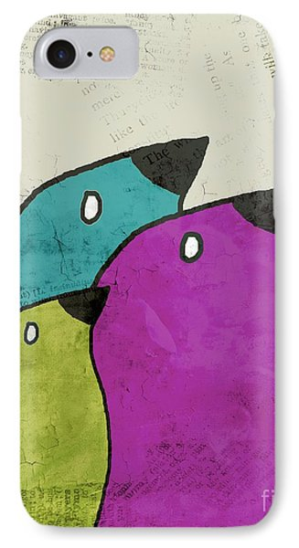 Birdies - V06c IPhone Case by Variance Collections