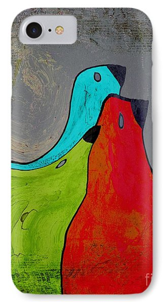 Birdies - V110b IPhone Case by Variance Collections