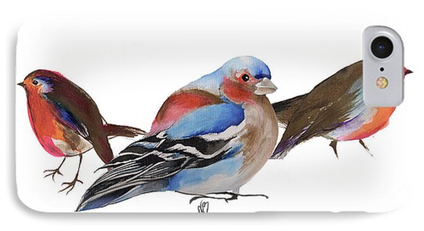 Birds Of A Feather IPhone Case by Nancy Moniz