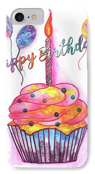 Birthday Cupcake IPhone Case by Debbie DeWitt