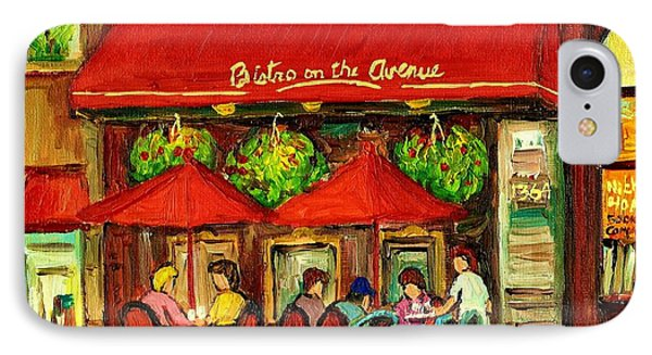 Bistro On Greene Avenue In Montreal IPhone Case by Carole Spandau