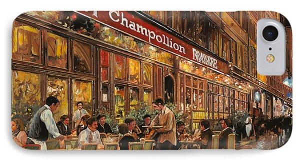 Bistrot Champollion IPhone Case by Guido Borelli