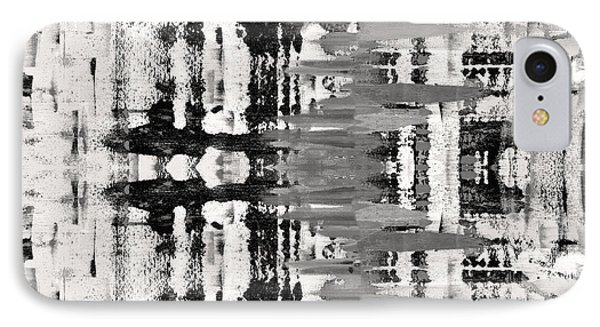 Black And White Abstract IPhone Case by Sumit Mehndiratta