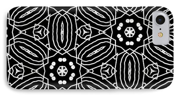 Black And White Boho Pattern 2- Art By Linda Woods IPhone 7 Case by Linda Woods