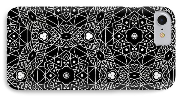 Black And White Boho Pattern 3- Art By Linda Woods IPhone 7 Case by Linda Woods