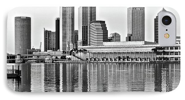 Black And White In The Heart Of Tampa Bay IPhone Case by Frozen in Time Fine Art Photography