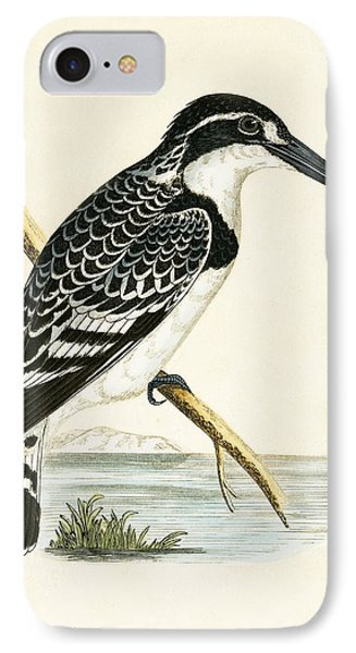 Black And White Kingfisher IPhone Case by English School