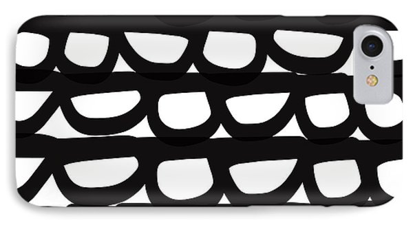 Black And White Pebbles- Art By Linda Woods IPhone Case by Linda Woods