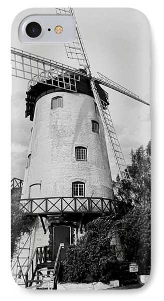 Black And White Windmill IPhone 7 Case by Sandy Taylor