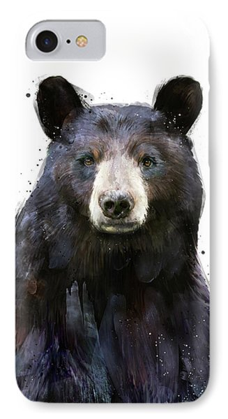 Black Bear IPhone Case by Amy Hamilton