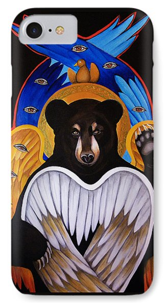 Black Bear Seraphim IPhone Case by Christina Miller