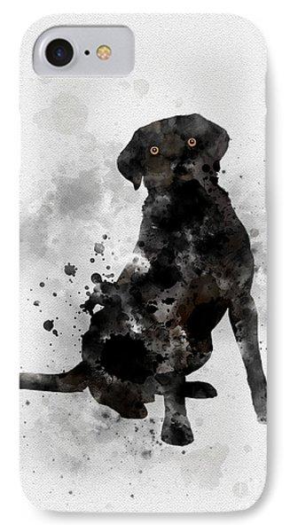 Black Labrador IPhone Case by Rebecca Jenkins