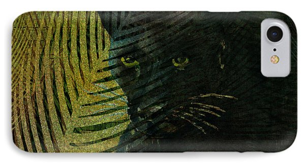 Black Panther IPhone Case by Arline Wagner
