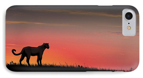 Black Panther IPhone Case by John Wills