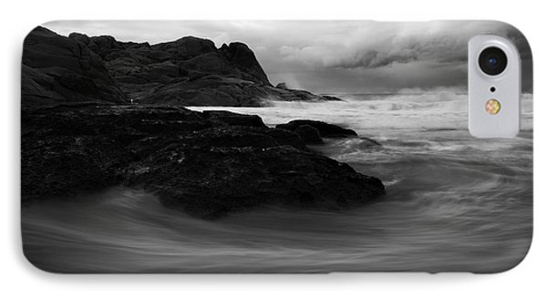 Black Rock  Swirl IPhone Case by Mike  Dawson