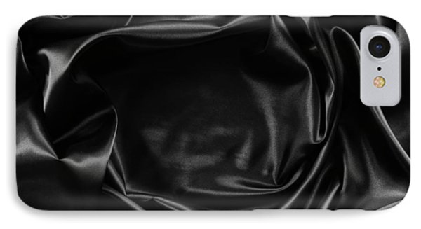 Black Silk  IPhone Case by Les Cunliffe
