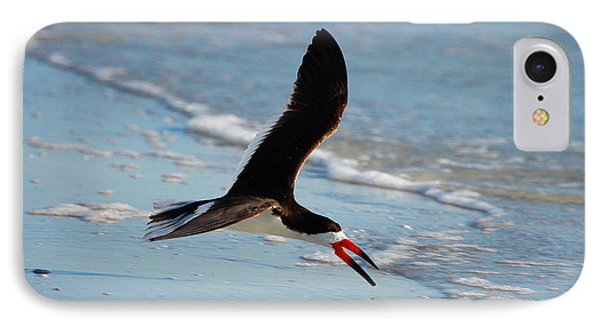 Black Skimmer IPhone 7 Case by Barbara Bowen