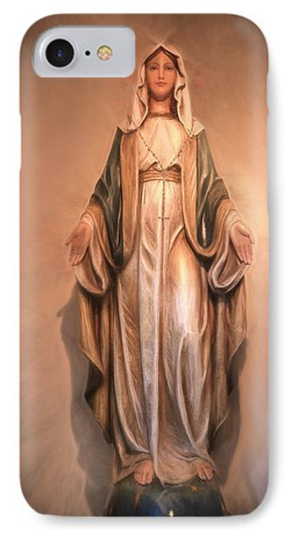 Blessed Virgin Mary IPhone Case by Donna Kennedy