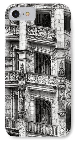 Blois Castle Staircase IPhone Case by Olivier Le Queinec
