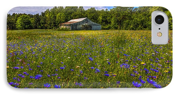 Blooming Country Meadow IPhone Case by Marvin Spates