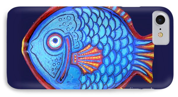Blue And Red Fish Phone Case by Genevieve Esson
