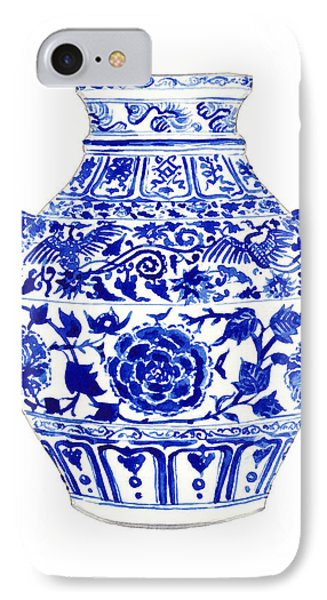 Blue And White Ginger Jar Chinoiserie 4 IPhone 7 Case by Laura Row