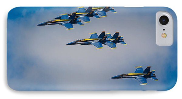 Blue Angels IPhone Case by Inge Johnsson