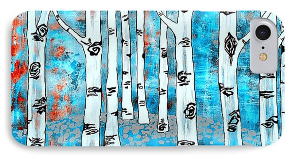 Blue Aspen Tree IPhone Case by Amy Sorrell