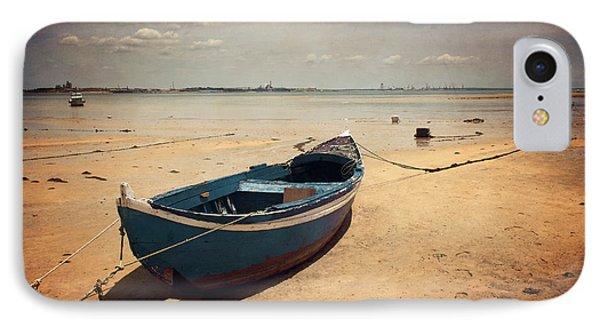 Blue Boat IPhone Case by Carlos Caetano