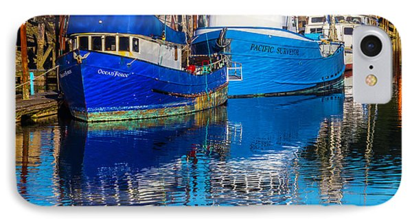 Blue Boats Reflection IPhone Case by Garry Gay