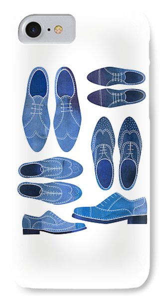 Blue Brogue Shoes IPhone Case by Nic Squirrell