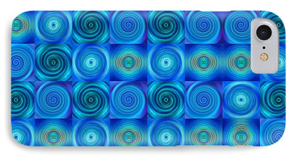 Blue Circles Abstract Art By Sharon Cummings IPhone Case by Sharon Cummings