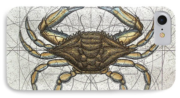 Blue Crab IPhone Case by Charles Harden
