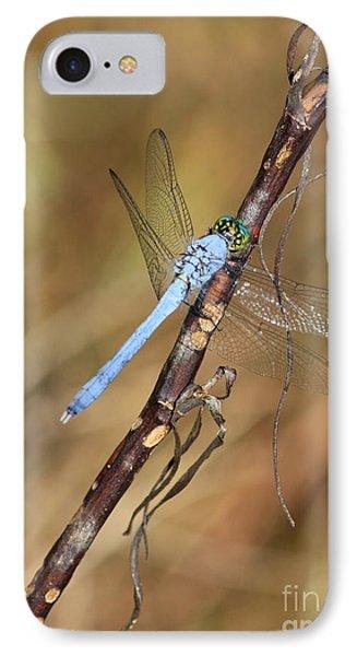 Blue Dragonfly Portrait Phone Case by Carol Groenen
