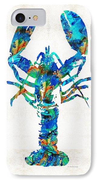 Blue Lobster Art By Sharon Cummings IPhone Case by Sharon Cummings