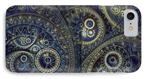 Blue Machine IPhone Case by Martin Capek
