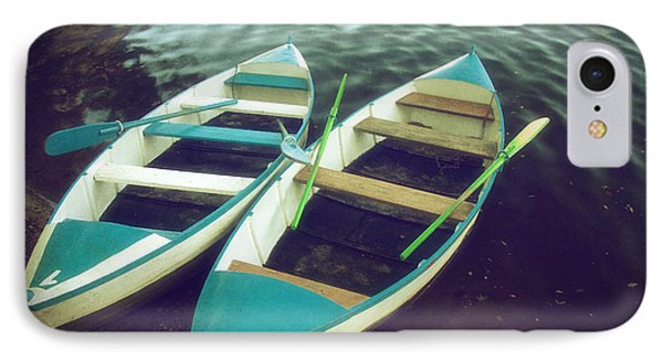 Blue Row Boats IPhone Case by Carlos Caetano